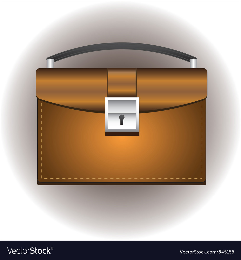 Leather briefcase vector | Price: 1 Credit (USD $1)