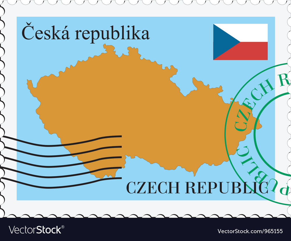 Mail to-from czech republic vector | Price: 1 Credit (USD $1)