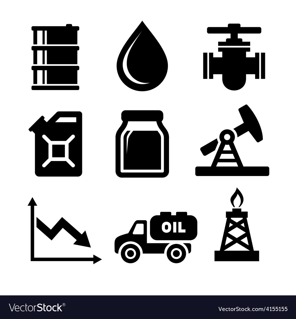 Oil icons set vector | Price: 1 Credit (USD $1)