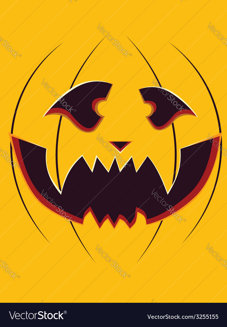 Scary pumpkin face2 vector | Price: 1 Credit (USD $1)
