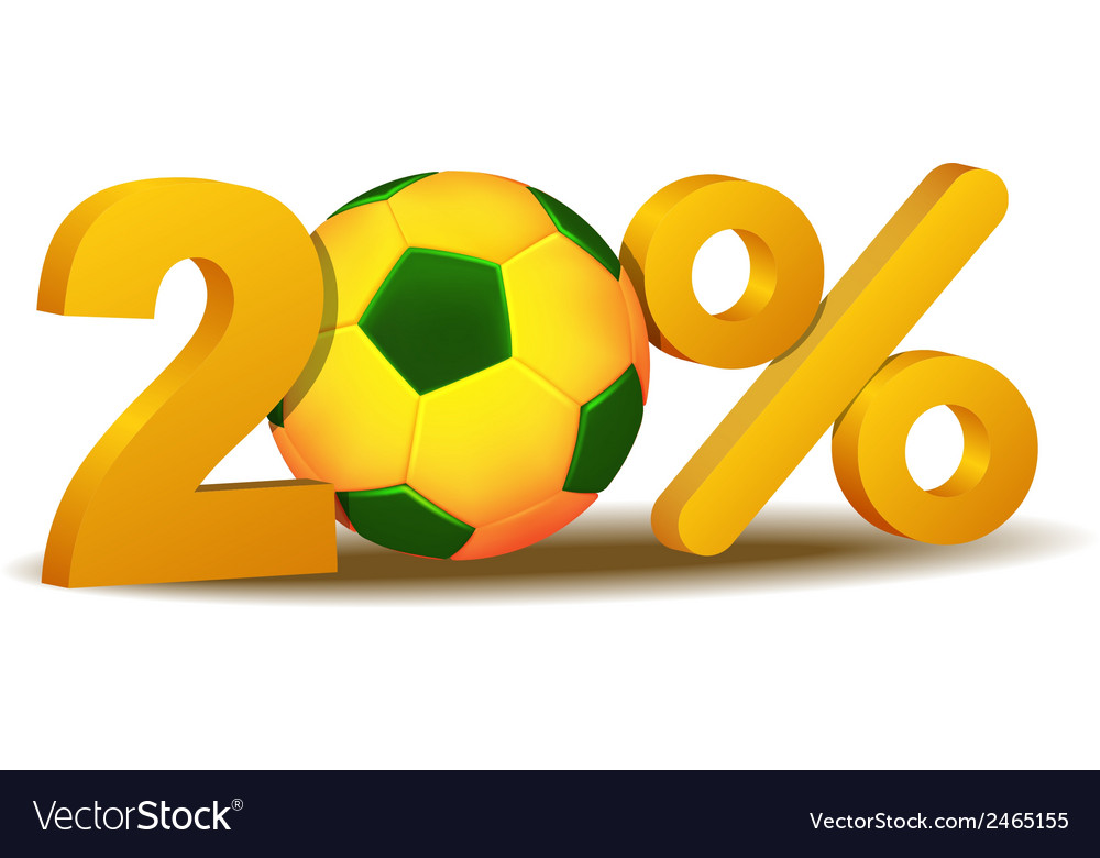 Twenty percent discount icon vector | Price: 1 Credit (USD $1)