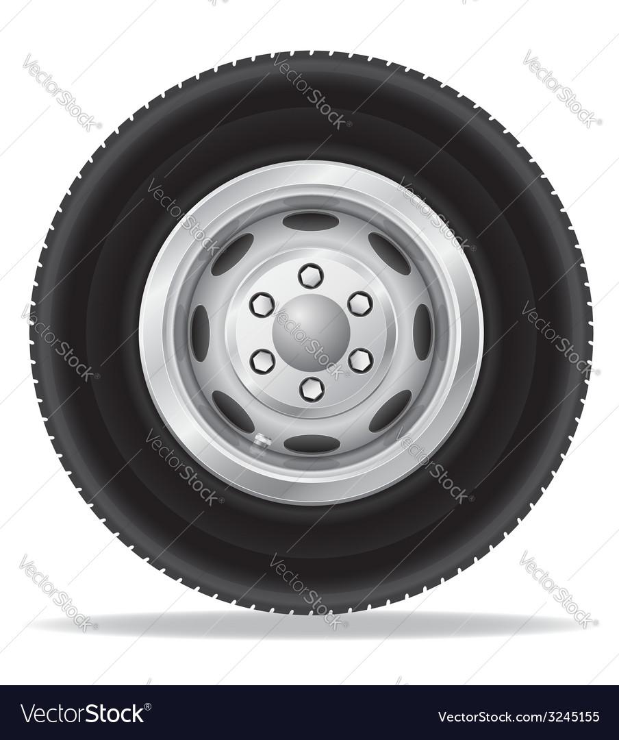 Wheel for truck vector | Price: 1 Credit (USD $1)
