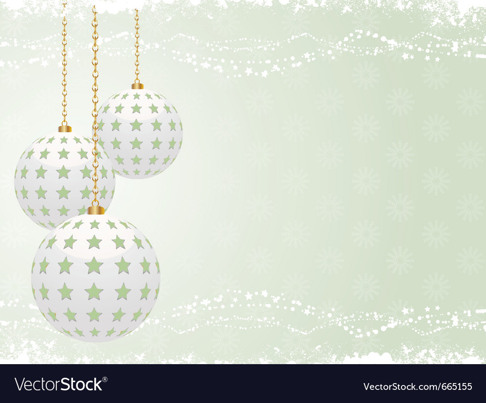 White christmas baubles vector   Price: 1 Credit (USD $1)