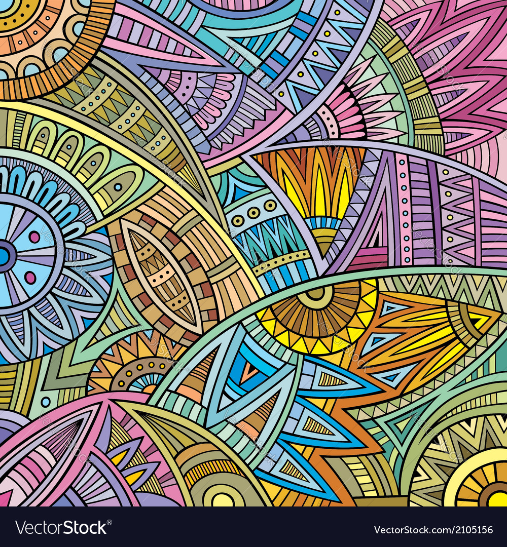 Abstract tribal ethnic pattern vector | Price: 1 Credit (USD $1)