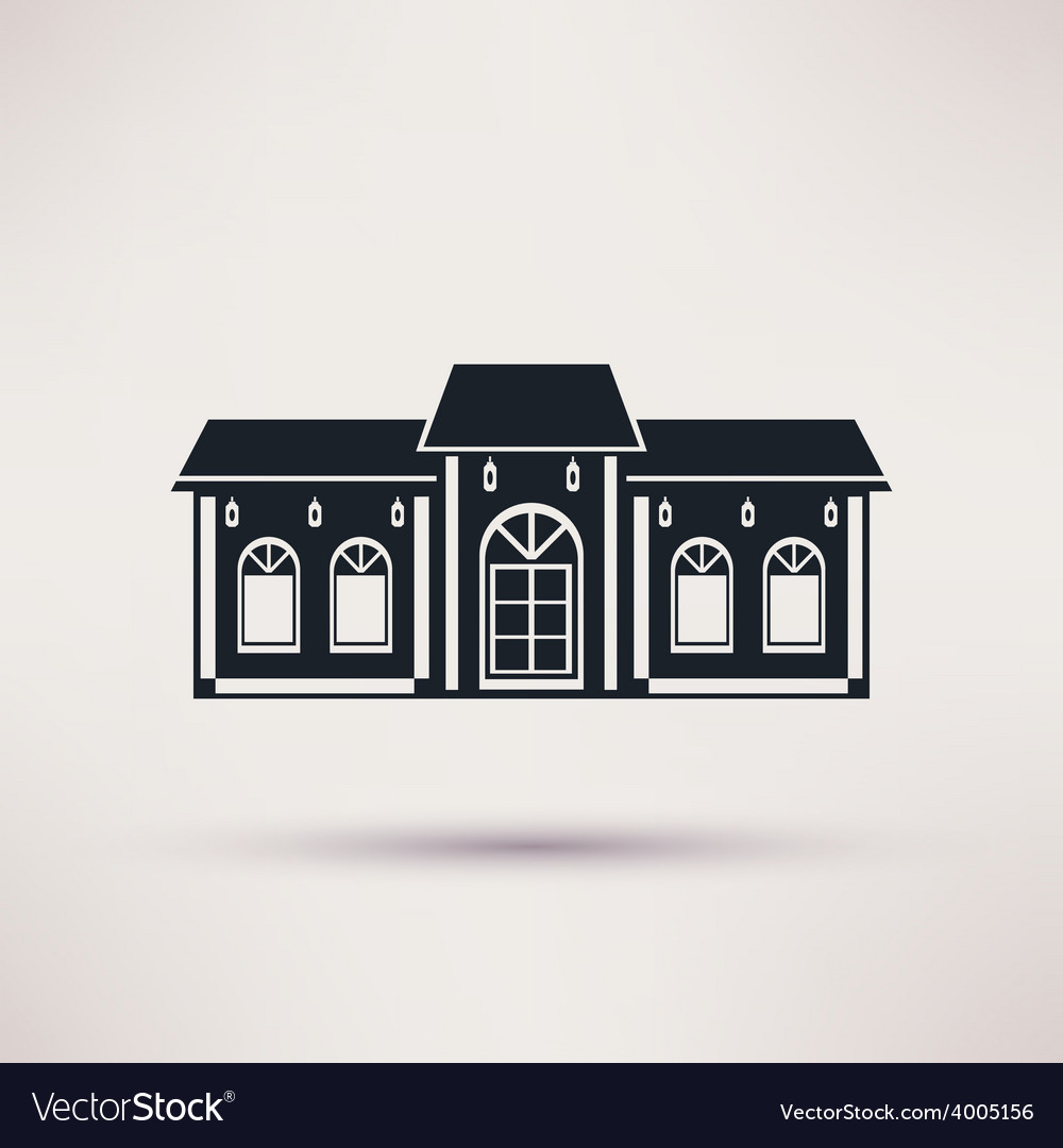 Buildings restaurant or cafe flat icon vector | Price: 1 Credit (USD $1)