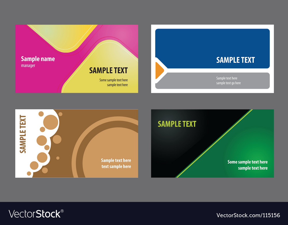 Business card templates vector | Price: 1 Credit (USD $1)