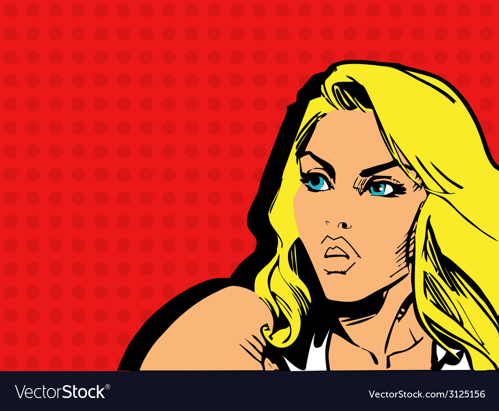 Girl comics vector | Price: 1 Credit (USD $1)