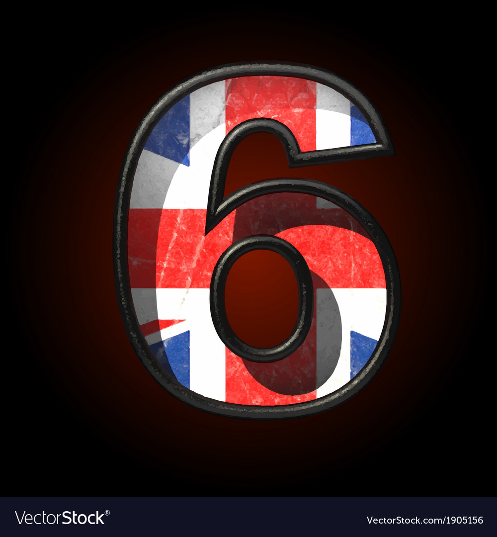 Great britain cutted figure 6 vector | Price: 1 Credit (USD $1)