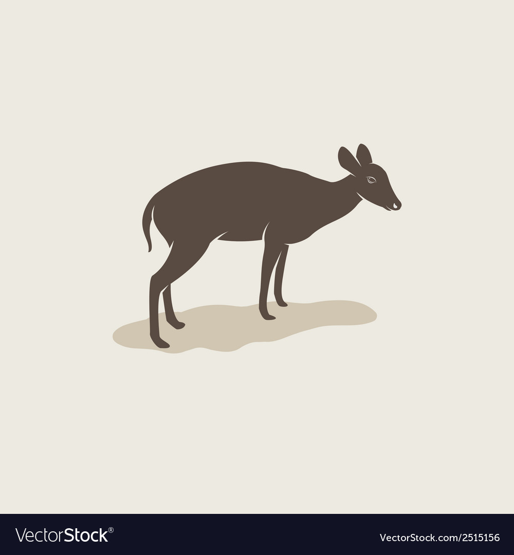 Image of an barking deer vector | Price: 1 Credit (USD $1)