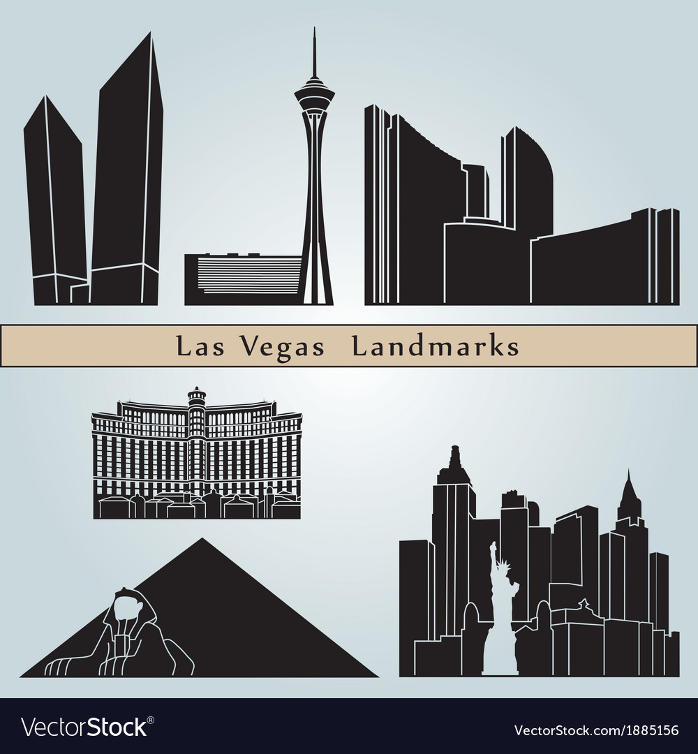 Las vegas landmarks and monuments vector | Price: 1 Credit (USD $1)