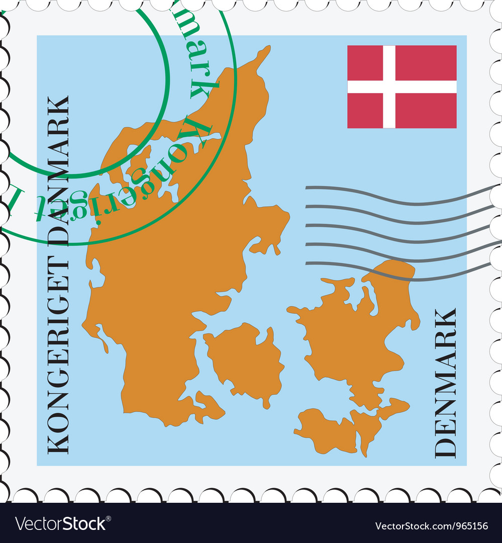 Mail to-from denmark vector | Price: 1 Credit (USD $1)