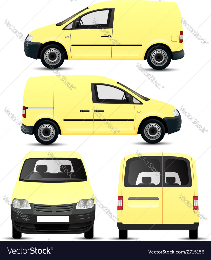 Mini van vector | Price: 3 Credit (USD $3)
