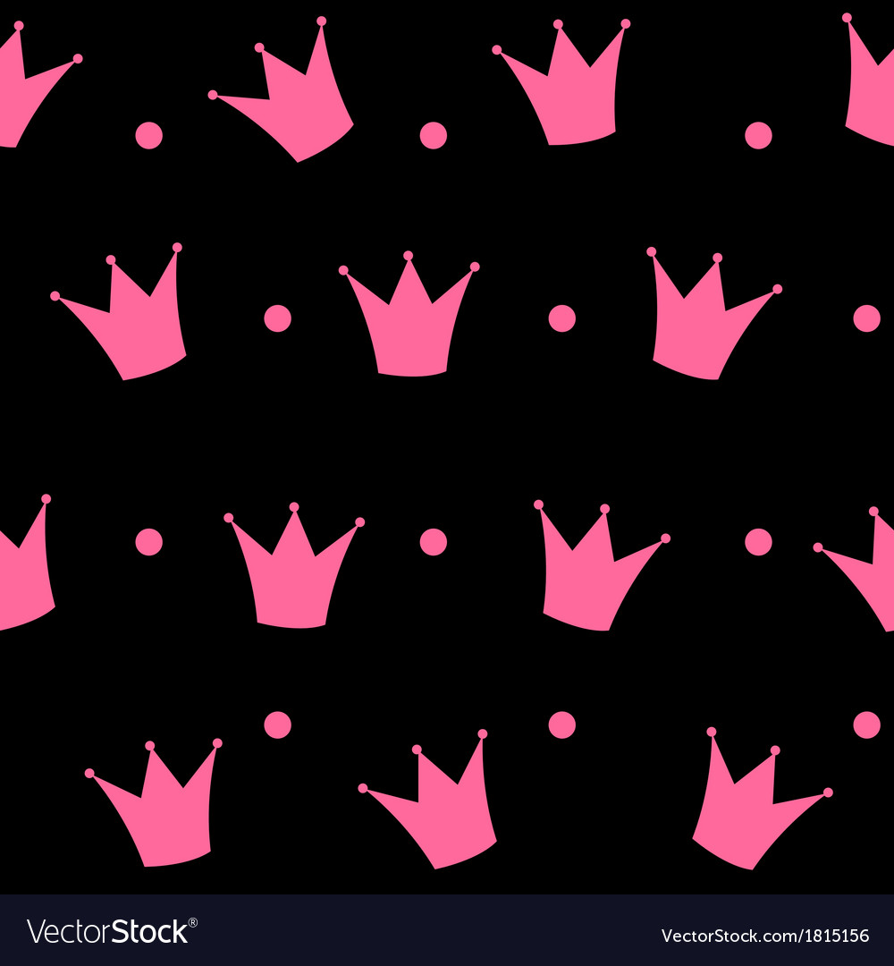 Princess crown seamless pattern background vector   Price: 1 Credit (USD $1)