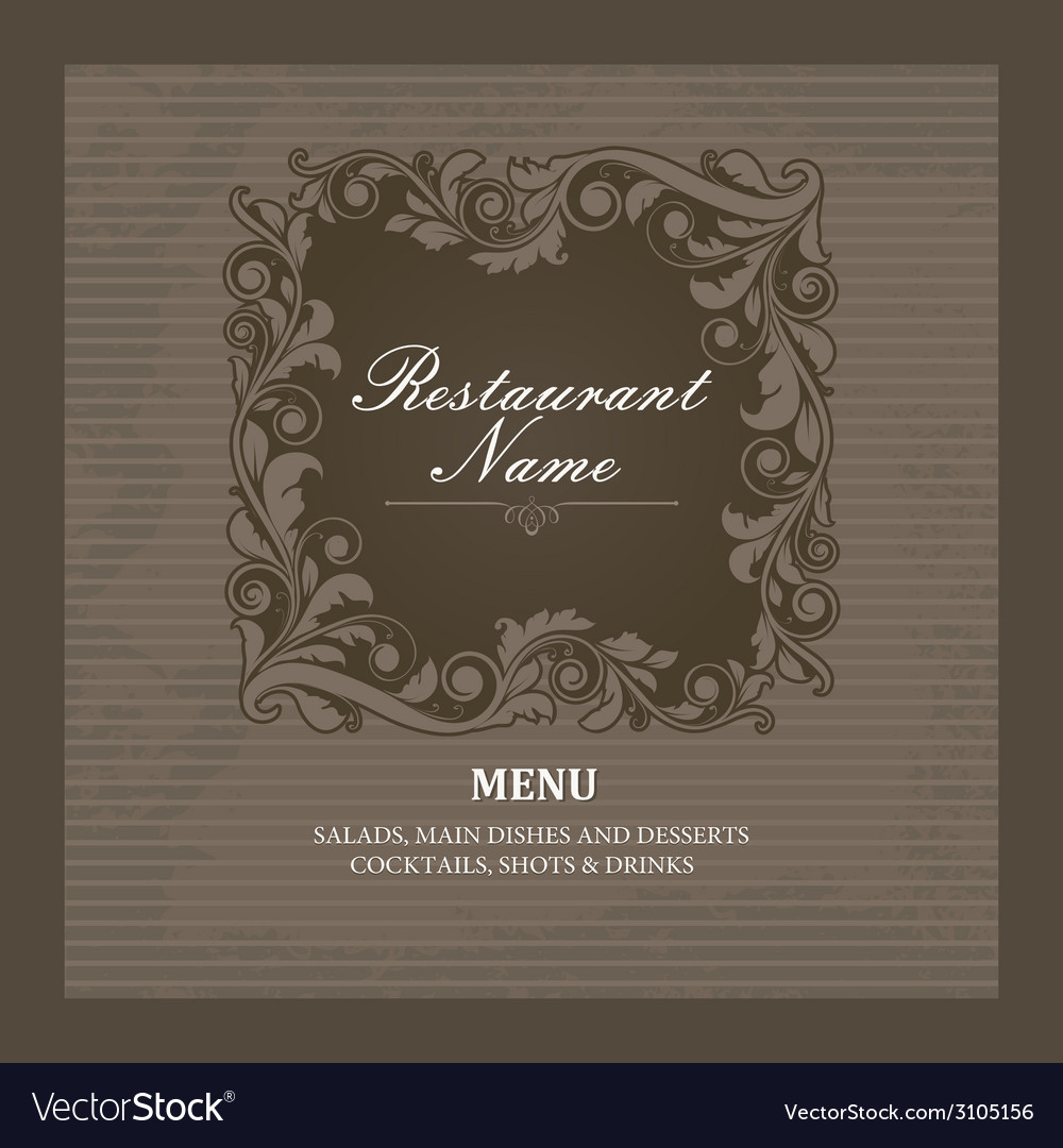 Restaurant menu book template vector | Price: 1 Credit (USD $1)