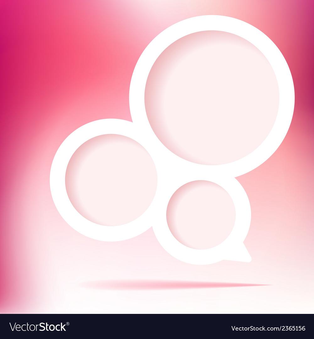 Speech bubble pink valentine  eps8 vector | Price: 1 Credit (USD $1)