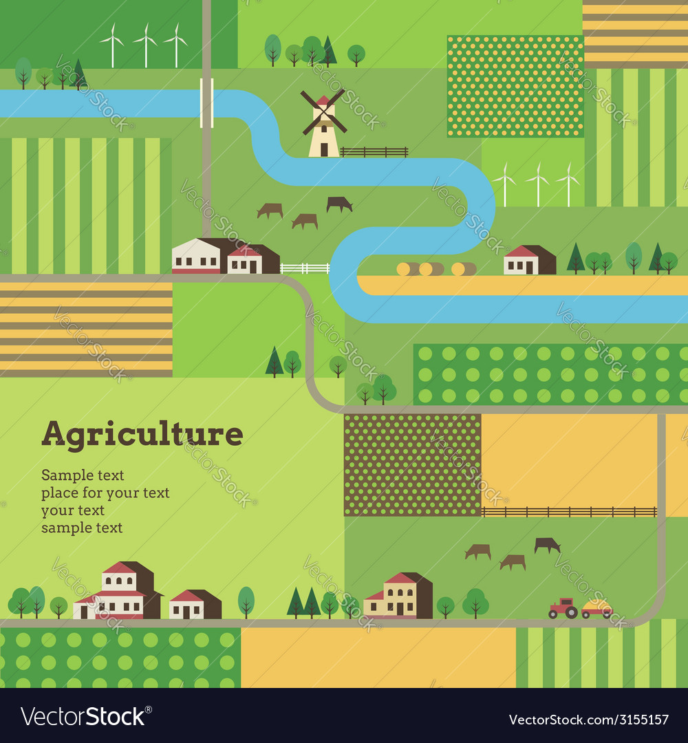 Agriculture background tractor vector | Price: 1 Credit (USD $1)