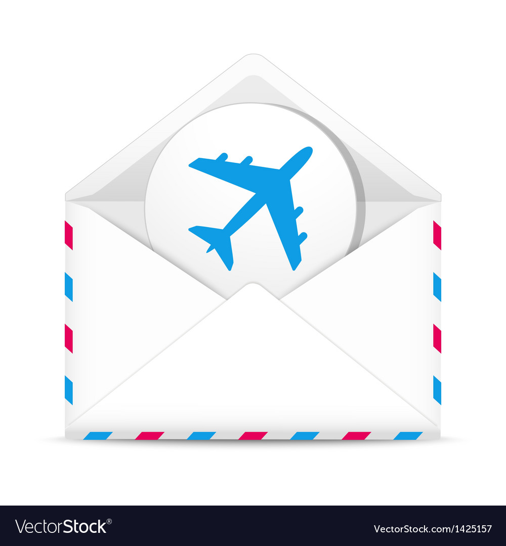 Air mail envelope vector | Price: 1 Credit (USD $1)