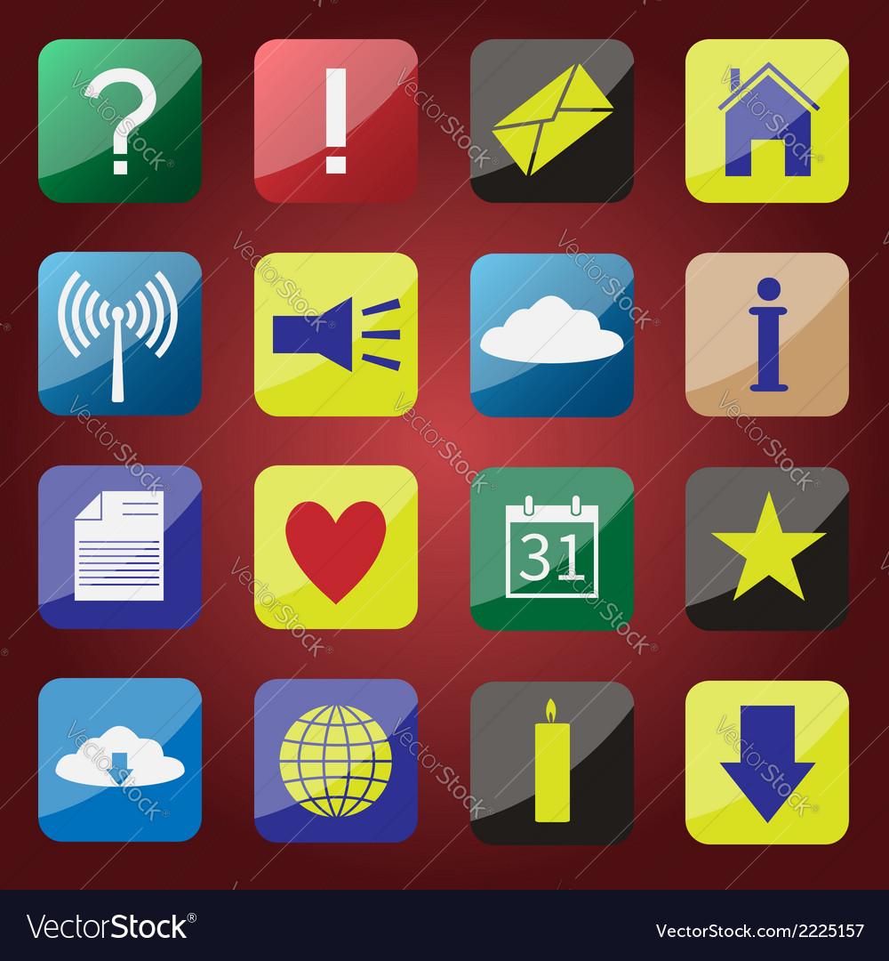 Apps icon set vector | Price: 1 Credit (USD $1)