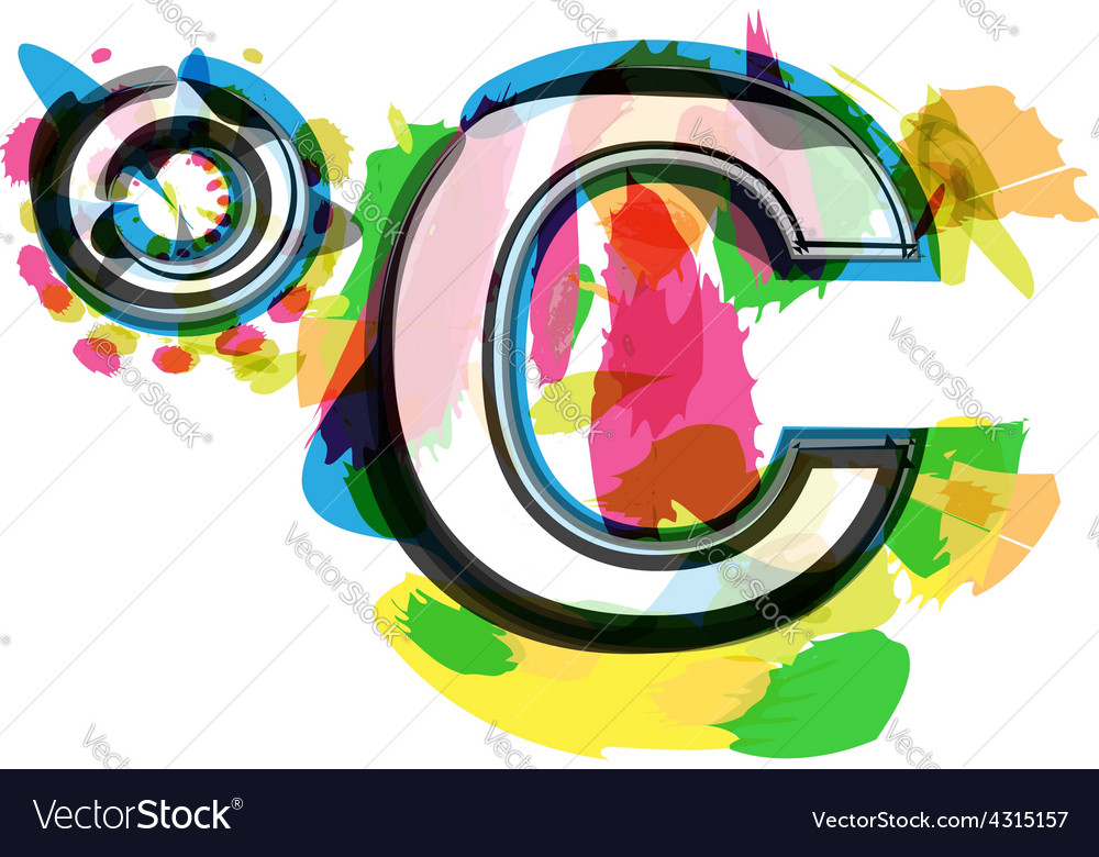 Artistic colorful celcius symbol vector | Price: 1 Credit (USD $1)
