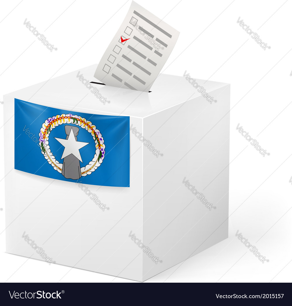 Ballot box with voting paper northern mariana vector | Price: 1 Credit (USD $1)