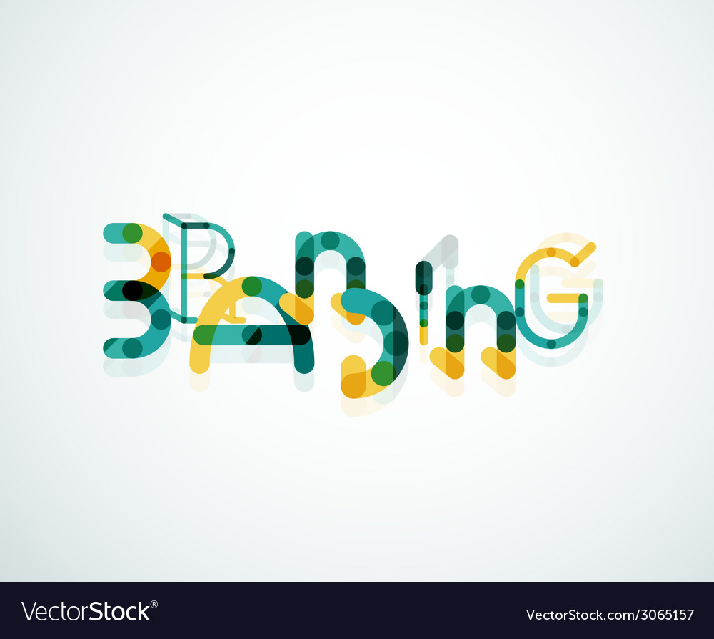 Branding font word concept vector | Price: 1 Credit (USD $1)