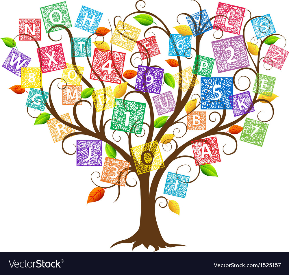 Education tree vector | Price: 1 Credit (USD $1)