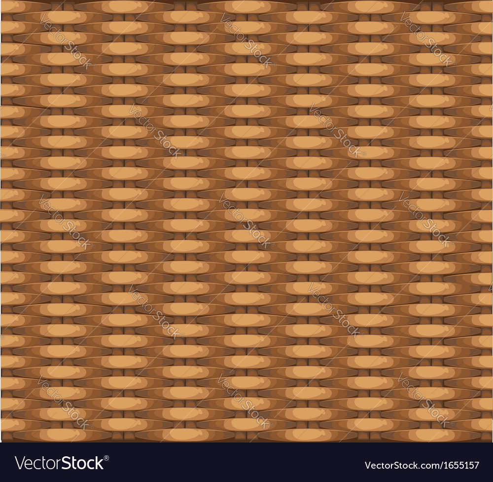 Seamless texture of wicker baskets for your design vector | Price: 1 Credit (USD $1)