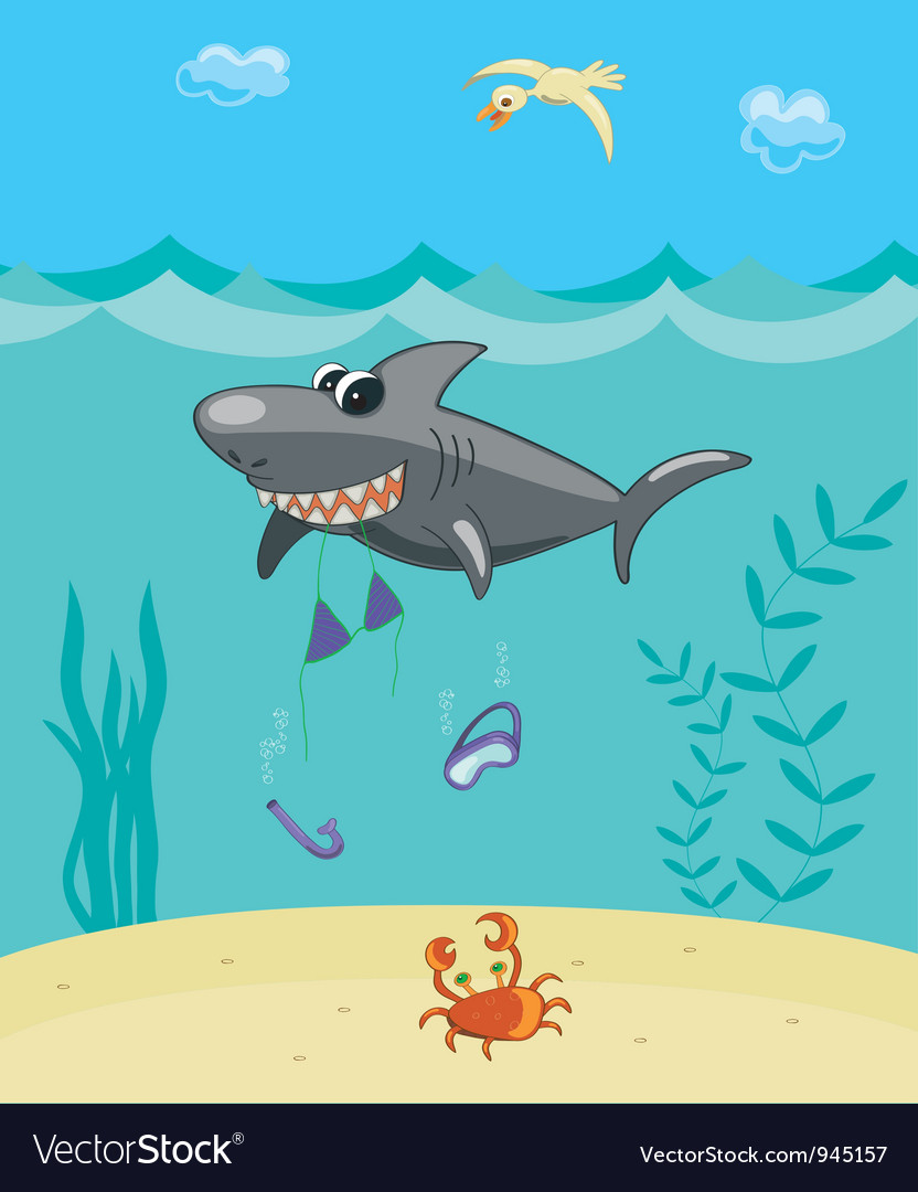 Shark attack vector | Price: 1 Credit (USD $1)