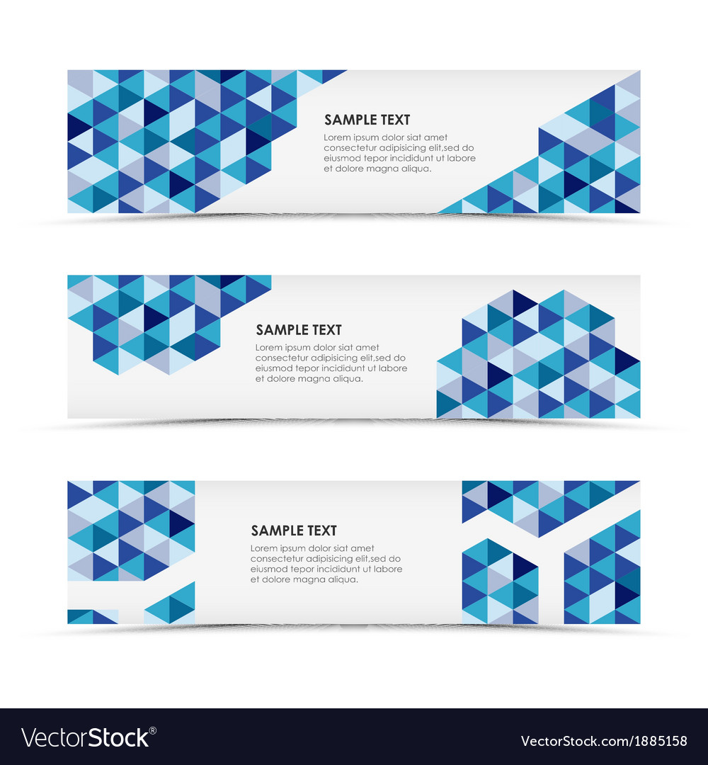 Abstract blue triangle horizontal banners vector | Price: 1 Credit (USD $1)