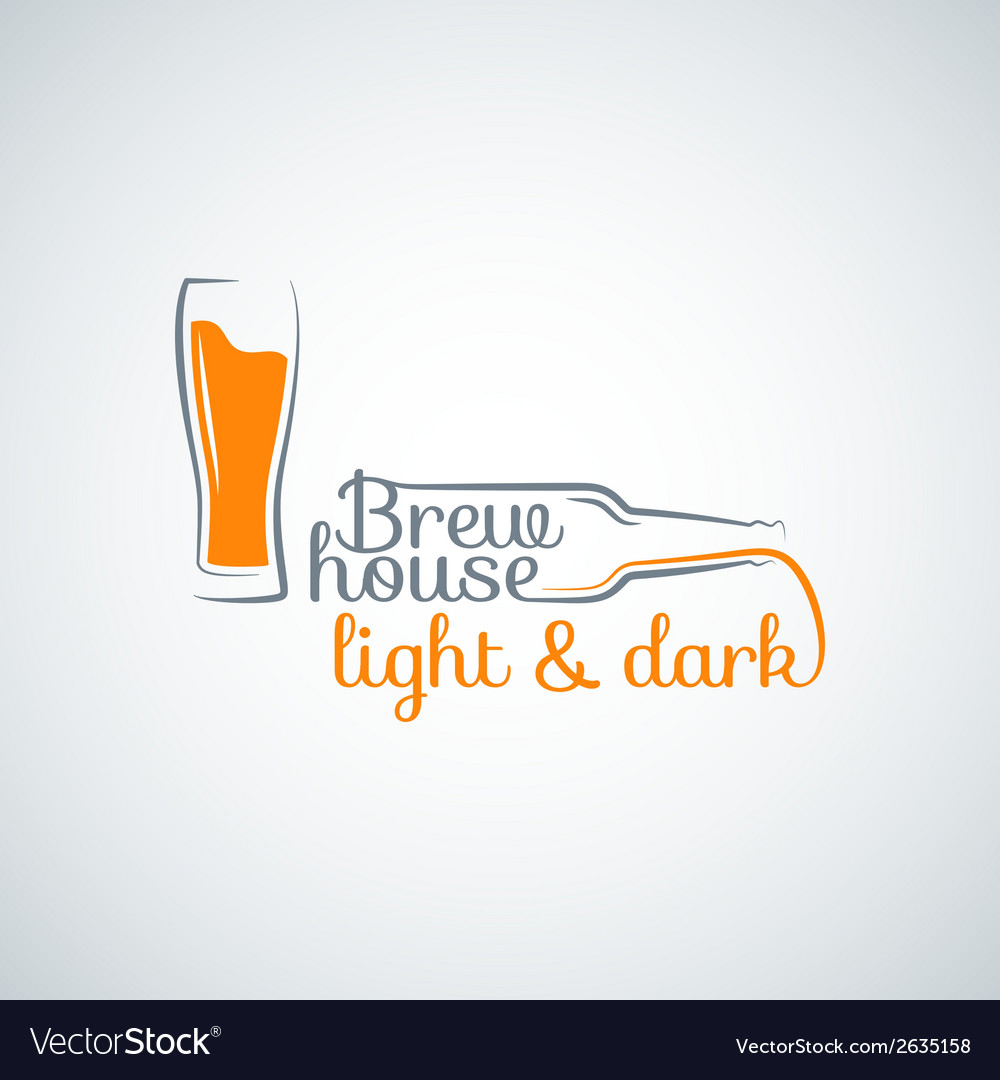 Beer glass bottle background vector | Price: 1 Credit (USD $1)