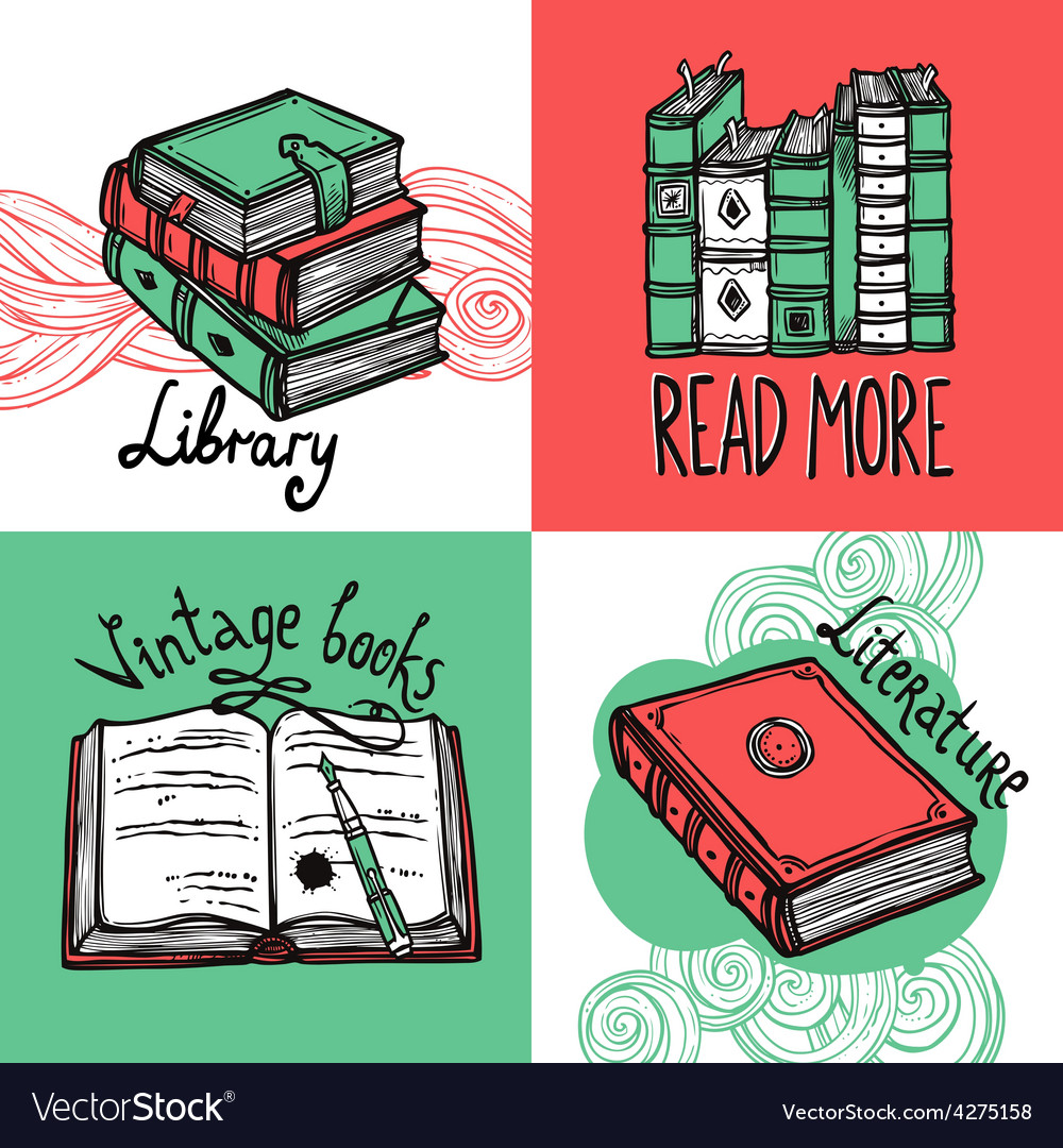 Books design concept set vector | Price: 1 Credit (USD $1)