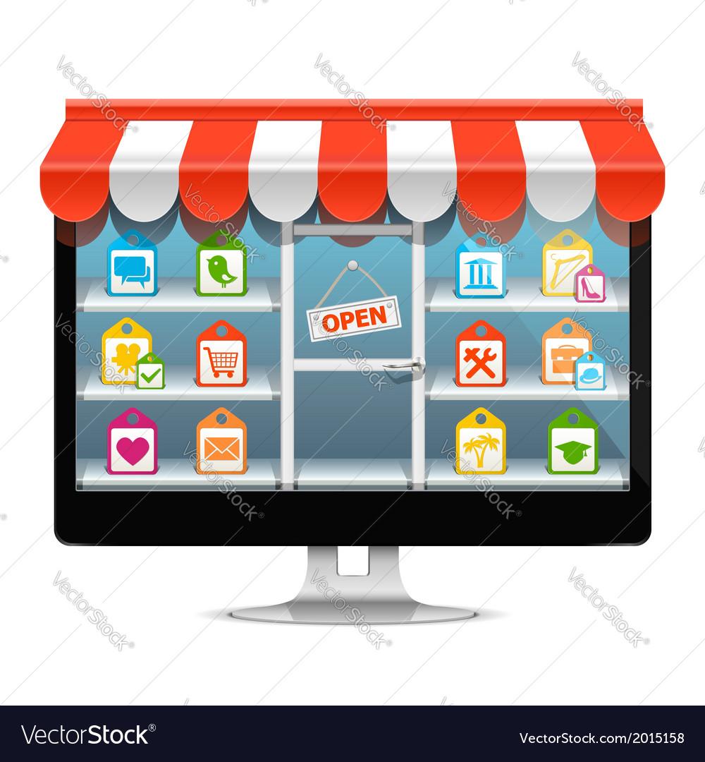Computer supermarket concept vector | Price: 1 Credit (USD $1)