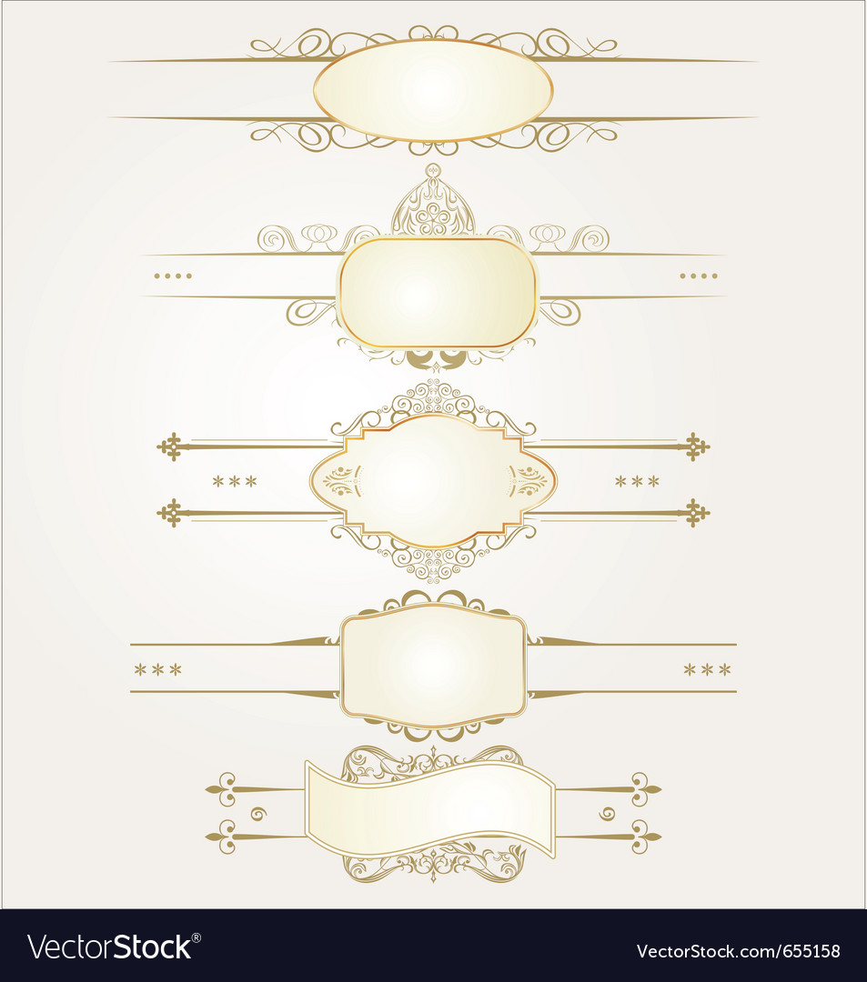 Decorative ornate elements vector | Price: 1 Credit (USD $1)