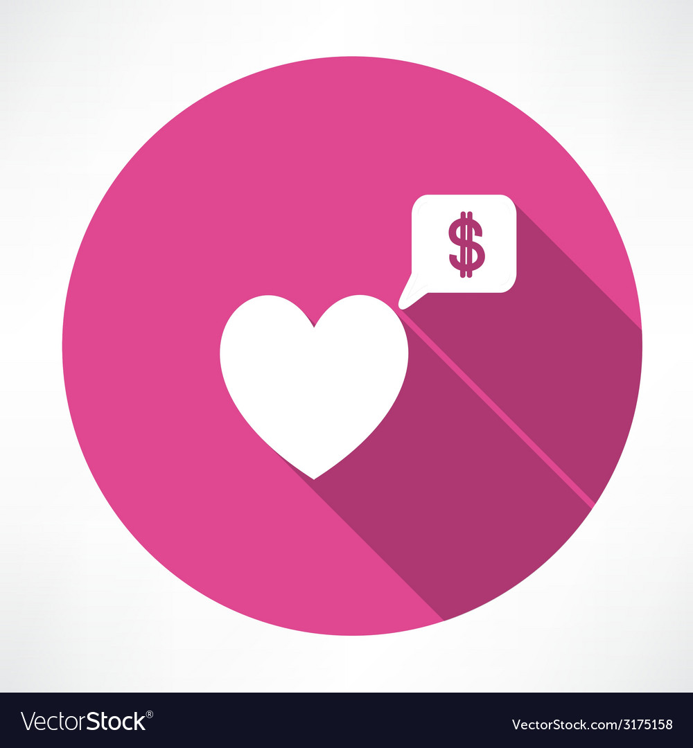 Heart said about money vector | Price: 1 Credit (USD $1)