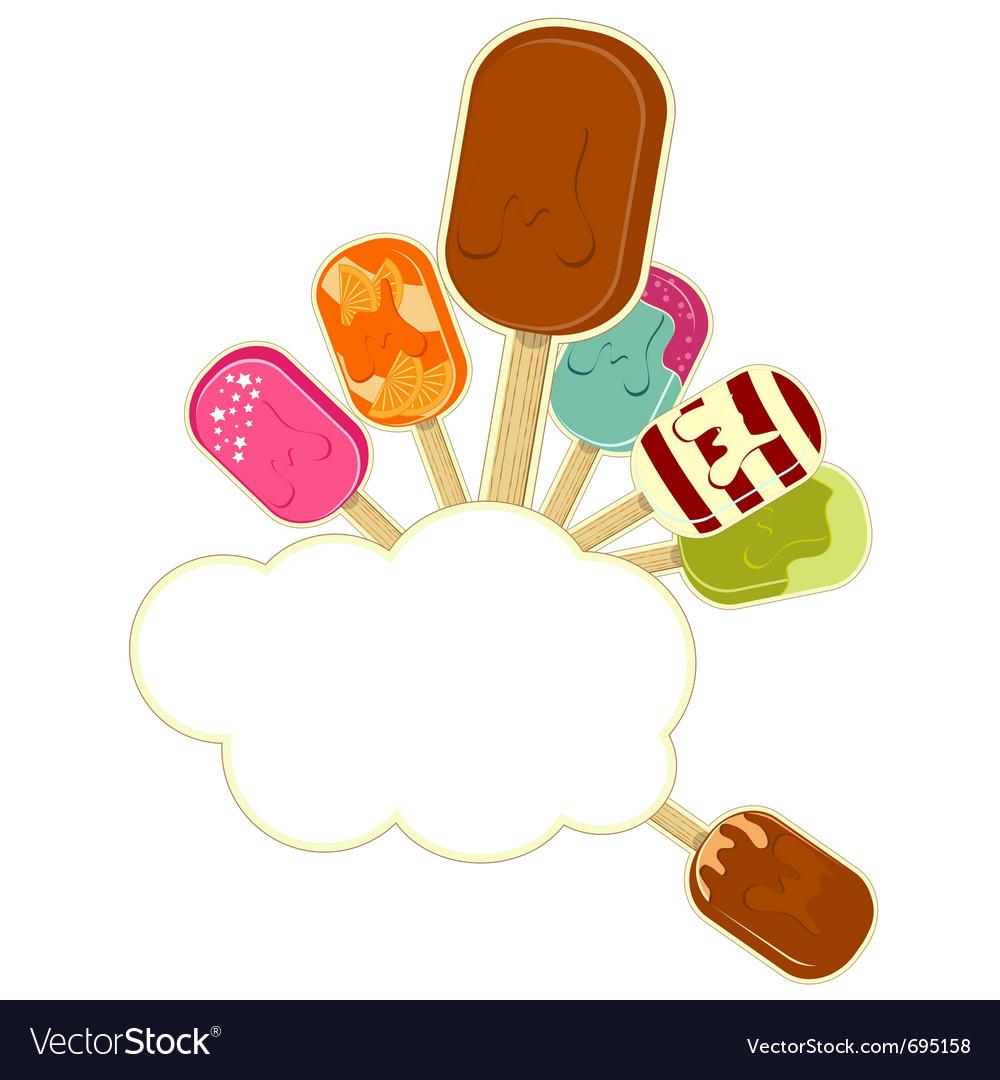 Ice cream cartoon vector   Price: 1 Credit (USD $1)