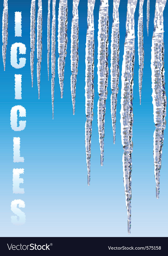 Icicles chill cold vector | Price: 1 Credit (USD $1)