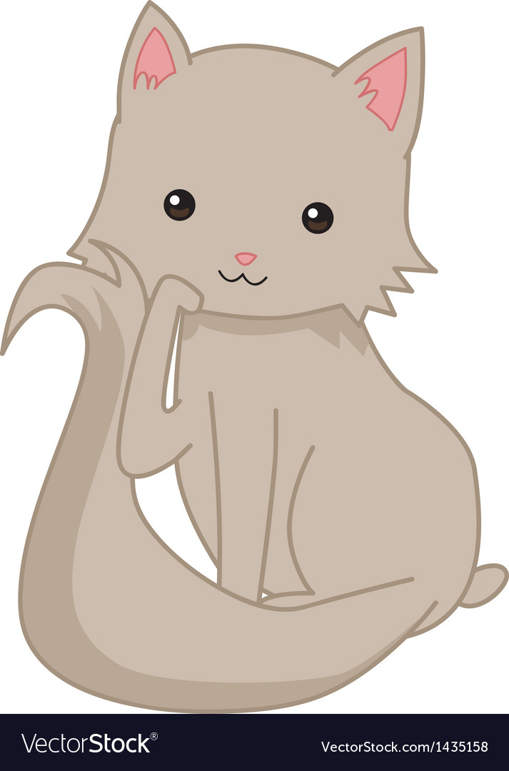 Kitty cat vector | Price: 1 Credit (USD $1)