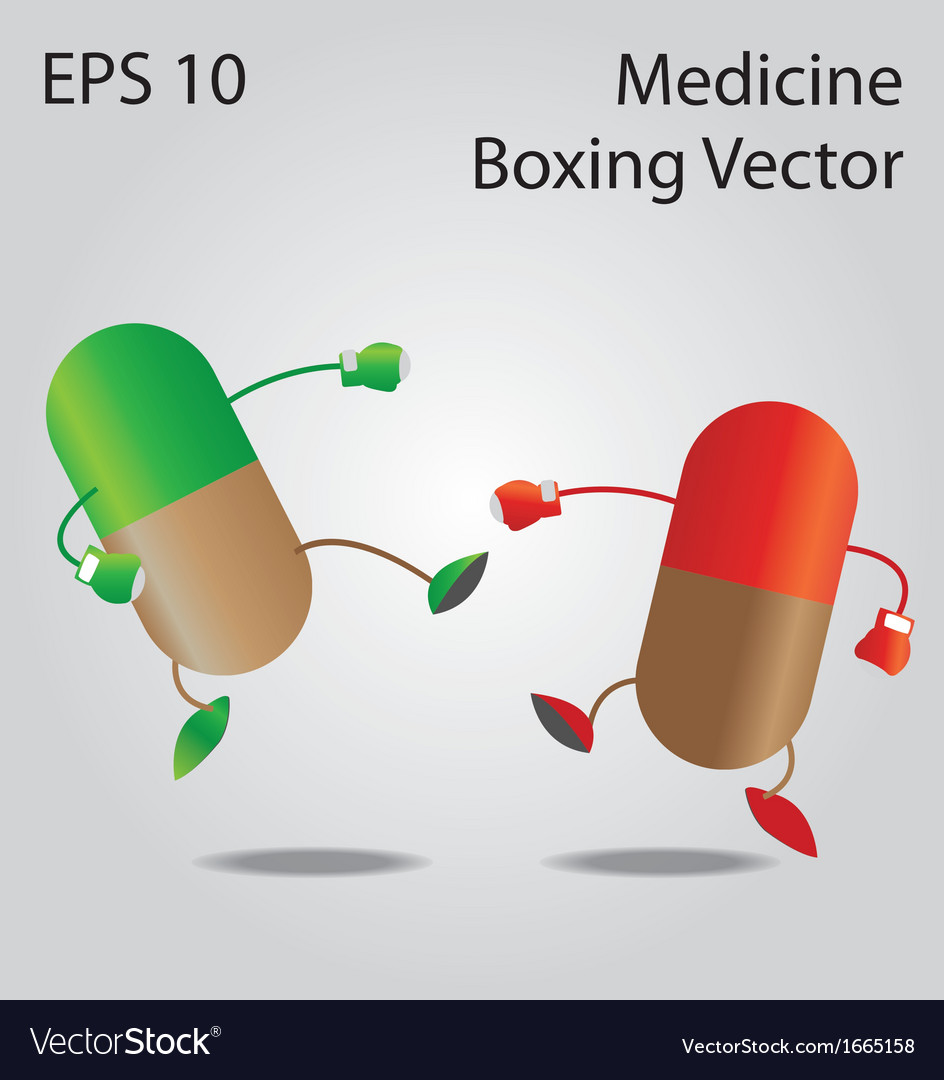 Medicine boxing vector | Price: 1 Credit (USD $1)