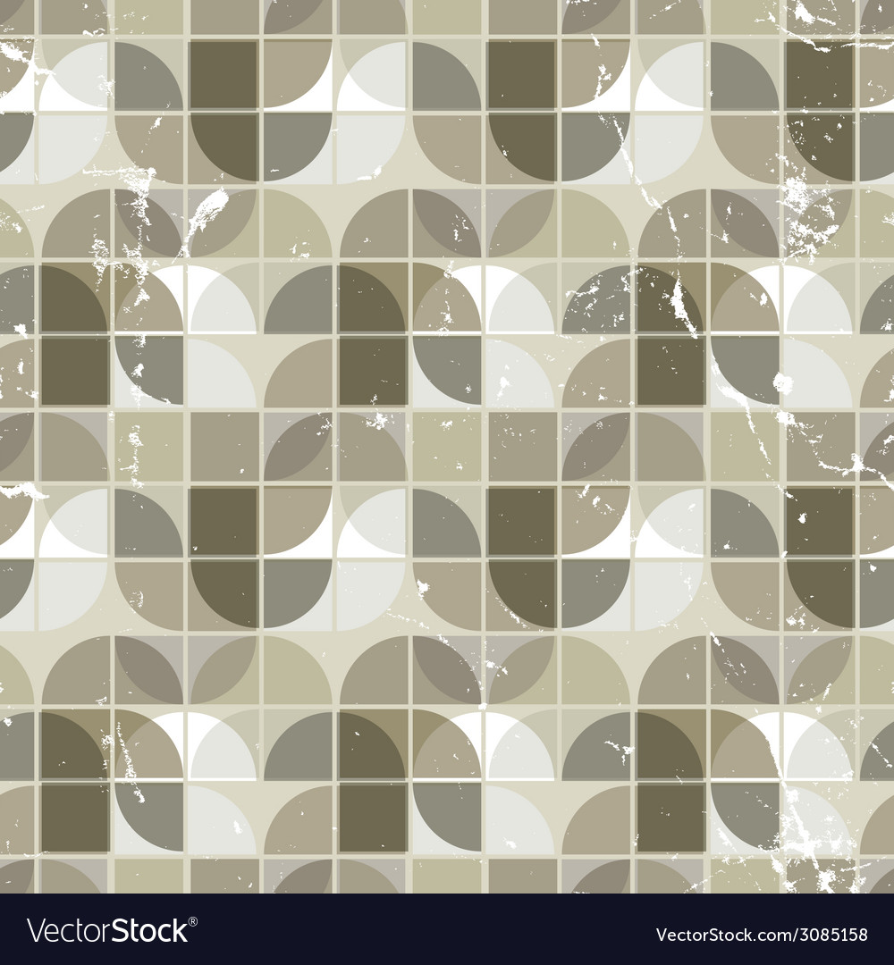 Old seamless pattern of tiles vector | Price: 1 Credit (USD $1)