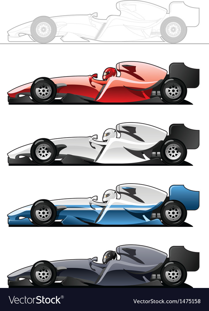 Racecars vector | Price: 1 Credit (USD $1)