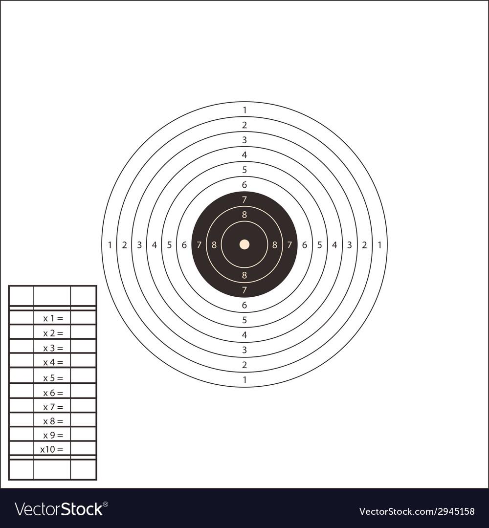 Shooting range target template vector | Price: 1 Credit (USD $1)