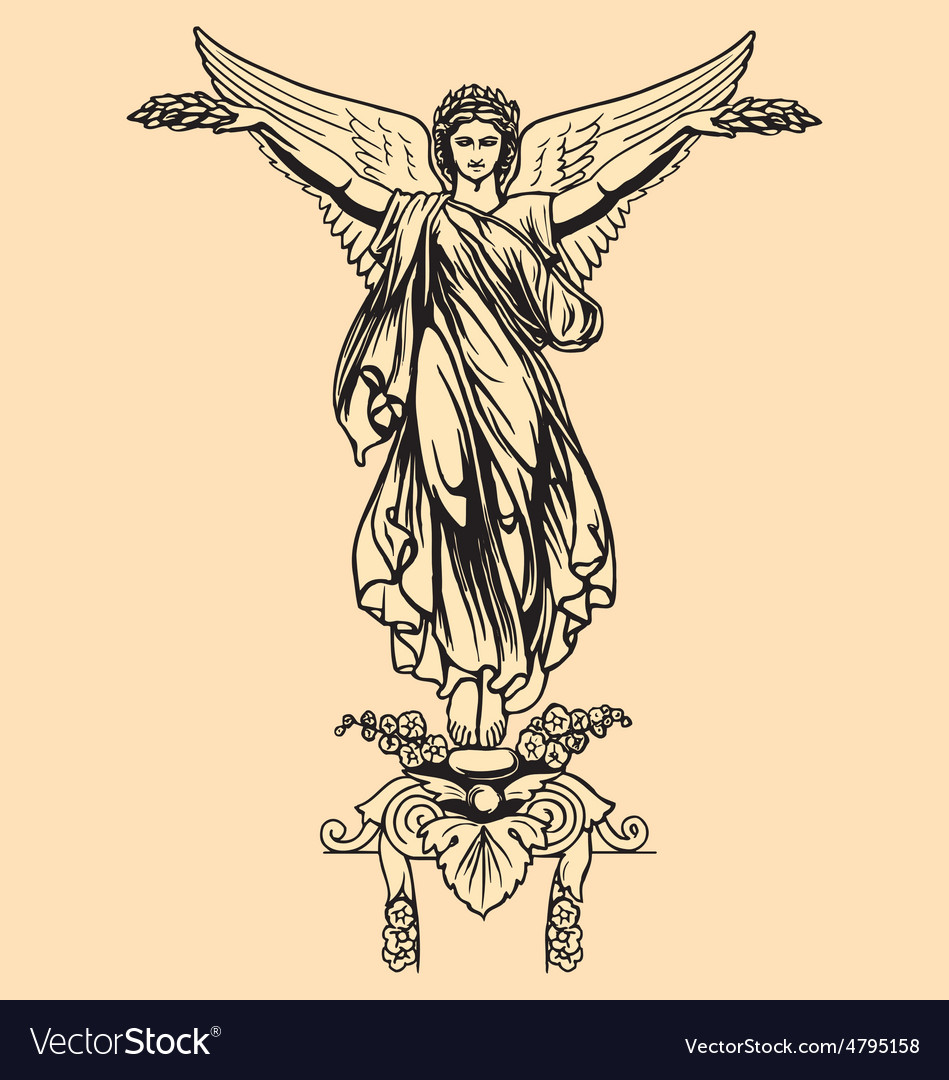 Vintage of angel vector | Price: 1 Credit (USD $1)