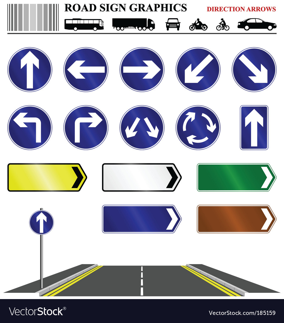Direction arrows vector | Price: 1 Credit (USD $1)