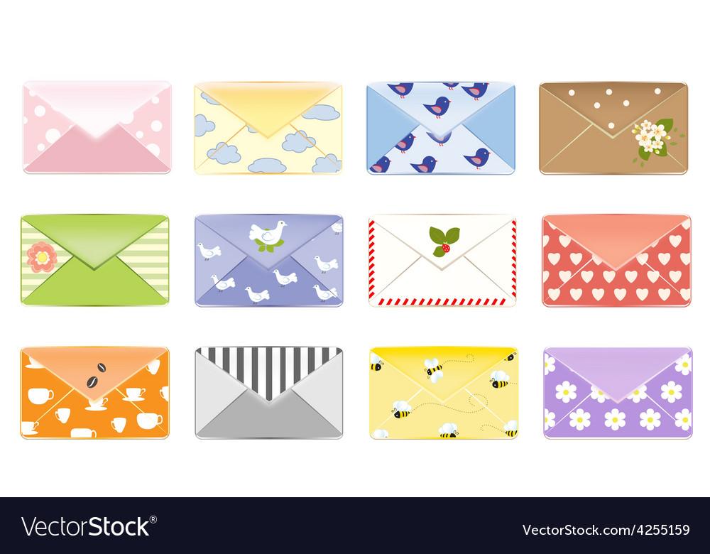 Email background letter design mailbox vector
