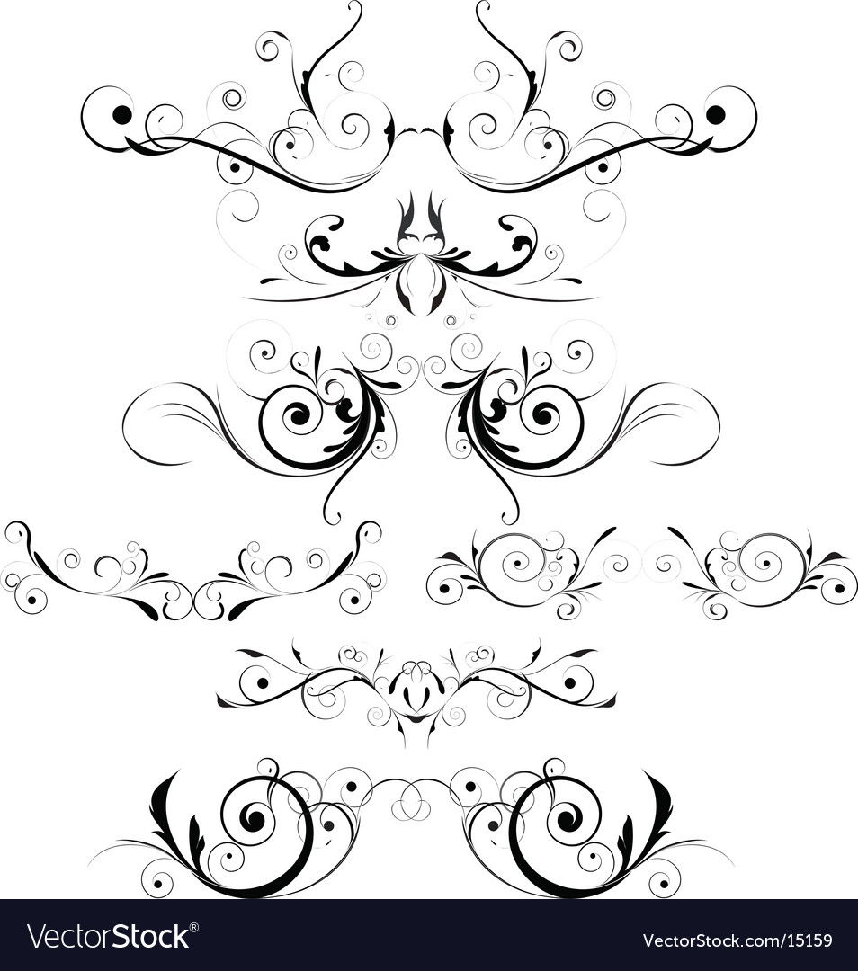 Floral trims vector | Price: 1 Credit (USD $1)