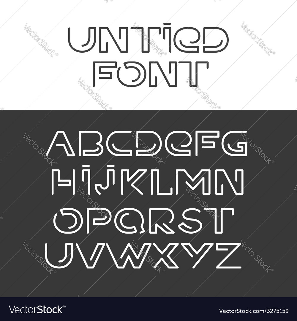 Font alphabet set vector | Price: 1 Credit (USD $1)