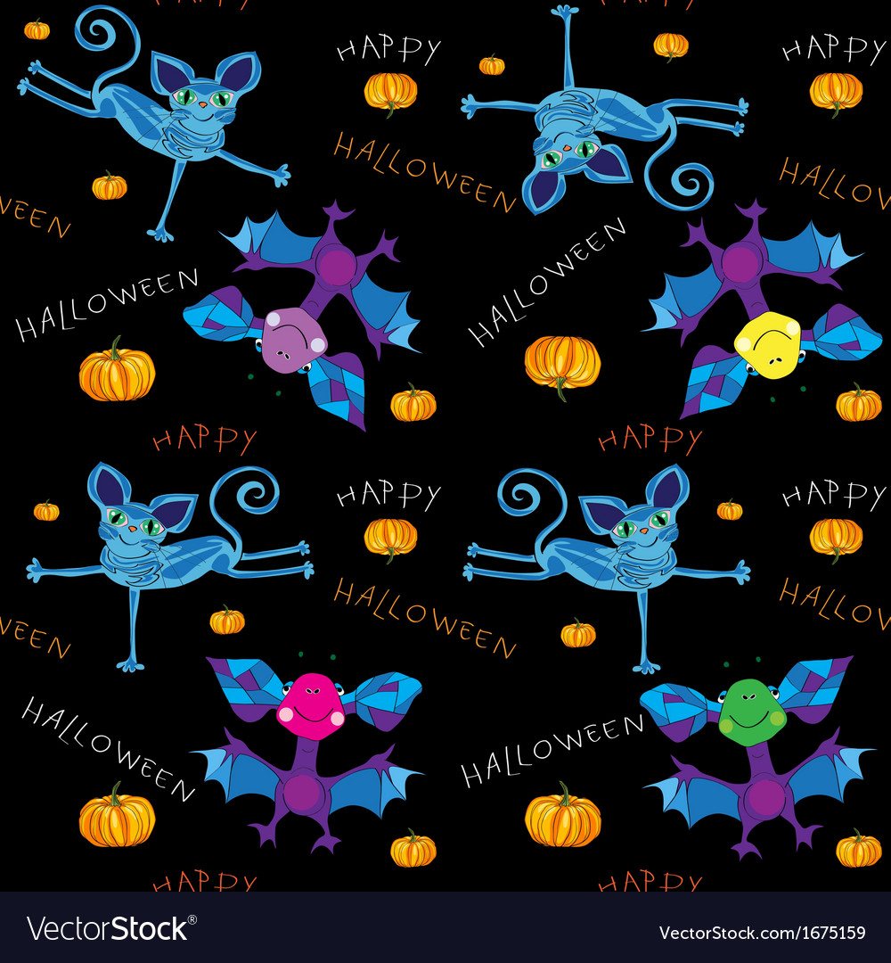 Happy halloween kids pattern vector | Price: 1 Credit (USD $1)