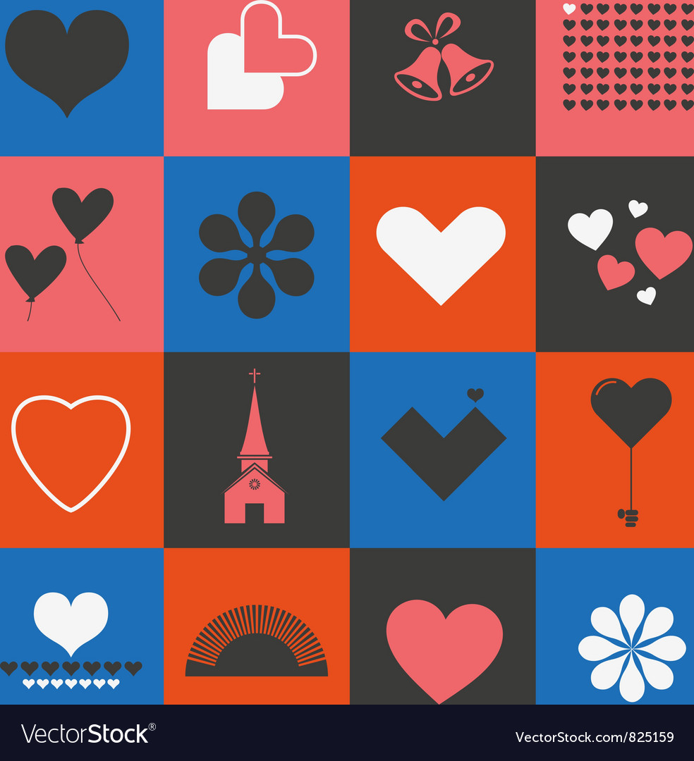 Hearts and valentines symbols vector | Price: 1 Credit (USD $1)