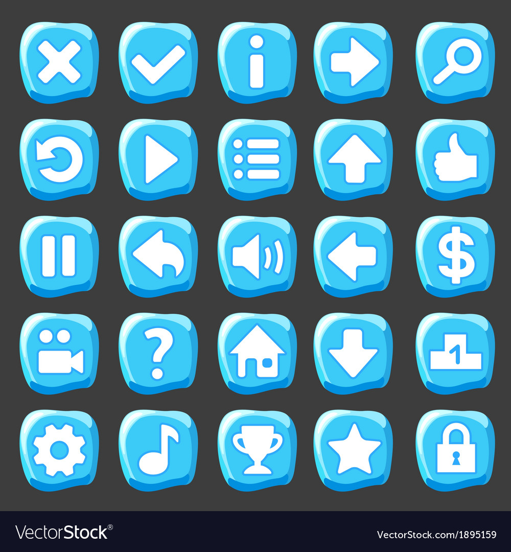 Ice game buttons vector   Price: 1 Credit (USD $1)