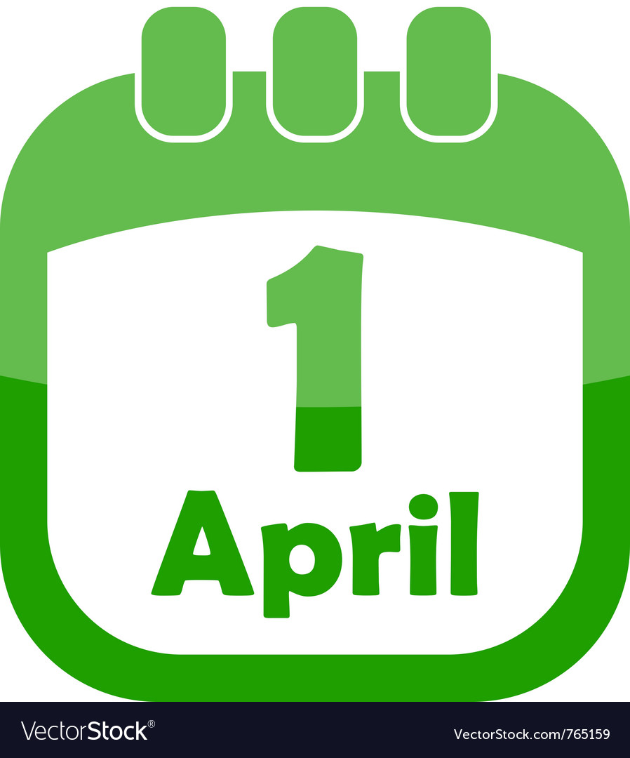 Icon 1 april in the calendar vector | Price: 1 Credit (USD $1)